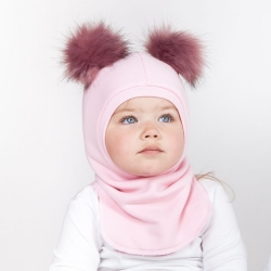 Pink Toddler hat balaclava