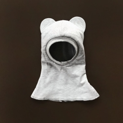 Light gray bear Balaclava