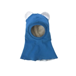 Blue bear Balaclava (Light gray ears)