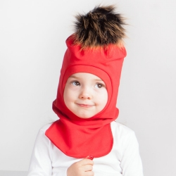 Top POMPOM hat helmet (Red)