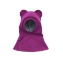 Purple bear hat-helmet