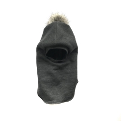 Back POMPOM Balaclava (Dark Gray)